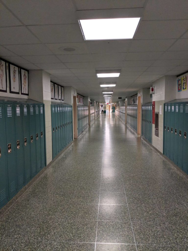 brentwood high school corridor